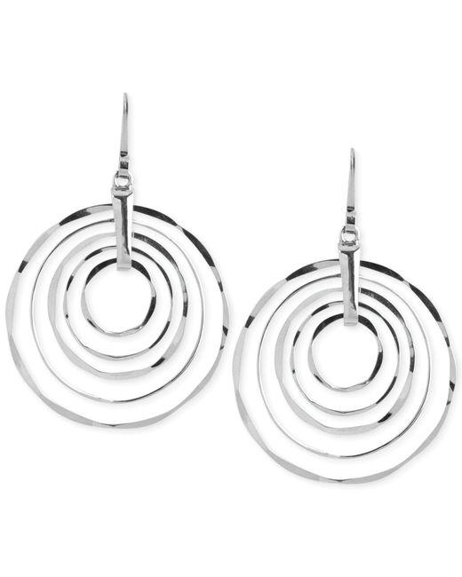 Robert Lee Morris - Metallic Silver-tone Hammered Ring Orbital Earrings - Lyst
