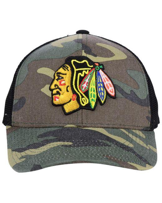 80d5851a37c ... Adidas - Multicolor Chicago Blackhawks Camo Trucker Cap for Men - Lyst  ...