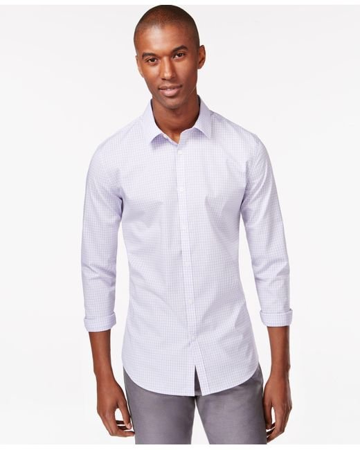 Calvin Klein | Purple Men's Infinite Cool Non-iron Slim-fit Shirt for Men | Lyst