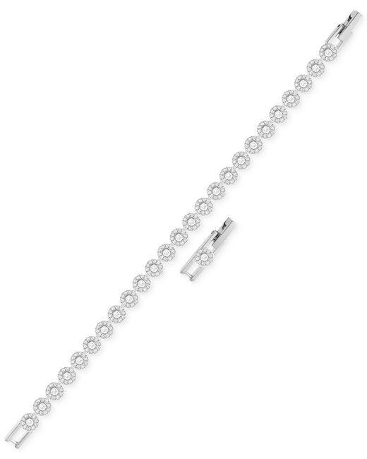 Swarovski | Metallic Angelic Rhodium-plated Crystal Bracelet | Lyst