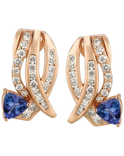 Le Vian | Pink Tanzanite (3/4 Ct. T.w.) And Diamond (3/4 Ct. T.w.) Earrings In 14k Rose Gold | Lyst