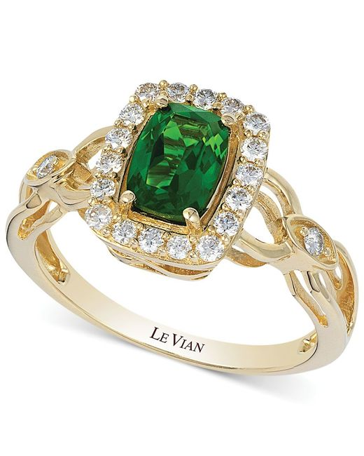 Le Vian | Green Chrome Diopside (3/4 Ct. T.w.) And Diamond (1/3 Ct. T.w.) Ring | Lyst