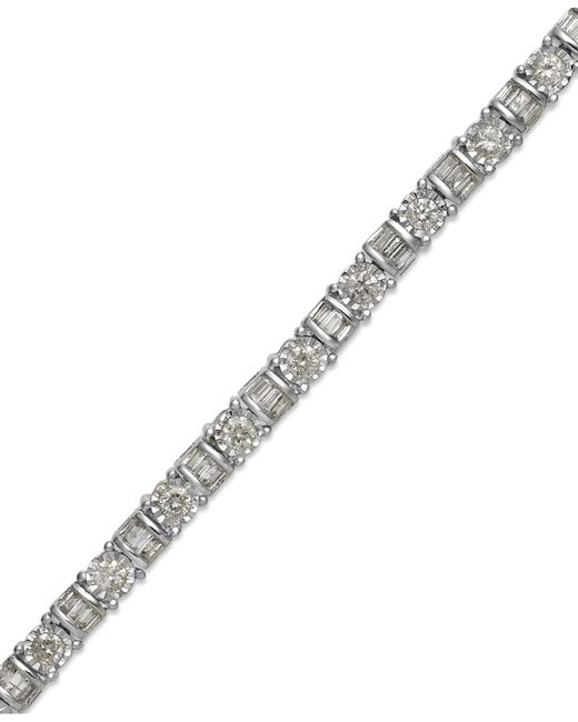 Macy's | Diamond Bracelet In 14k White Gold (2 Ct. T.w.) | Lyst