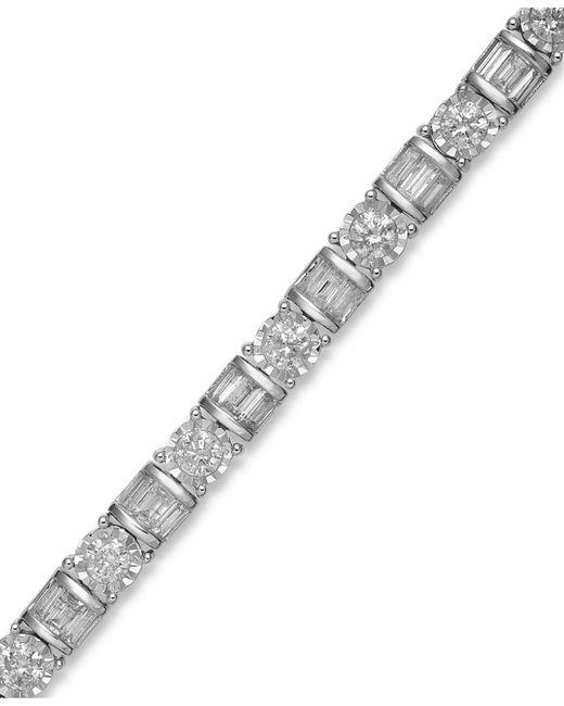 Macy's | Diamond Bracelet In 14k White Gold (5 Ct. T.w.) | Lyst