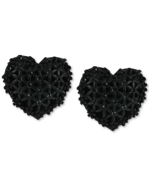 Betsey Johnson | Black Ball Front & Back Earrings | Lyst
