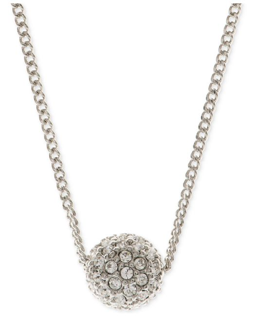 Givenchy - Metallic Silver-tone Fireball Necklace - Lyst