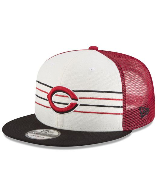 watch 2d219 4e505 ... coupon for ktz cincinnati reds vintage stripe 9fifty snapback cap for  men lyst 6dc6e 63f31