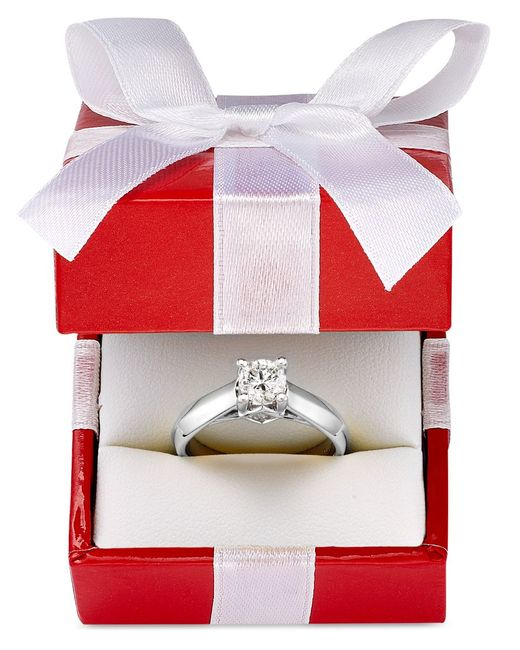 Macy's | Metallic Certified Diamond Solitaire Engagement Ring In 14k White Or Yellow Gold (1 Ct. T.w.) | Lyst