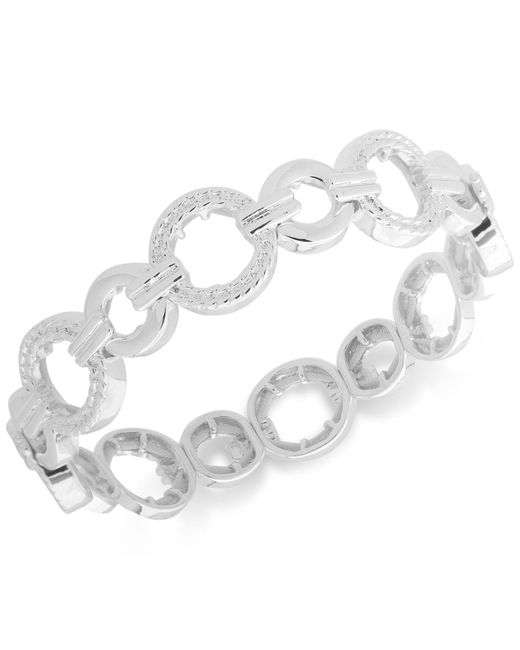 Nine West - Metallic Textured Link Stretch Bracelet - Lyst