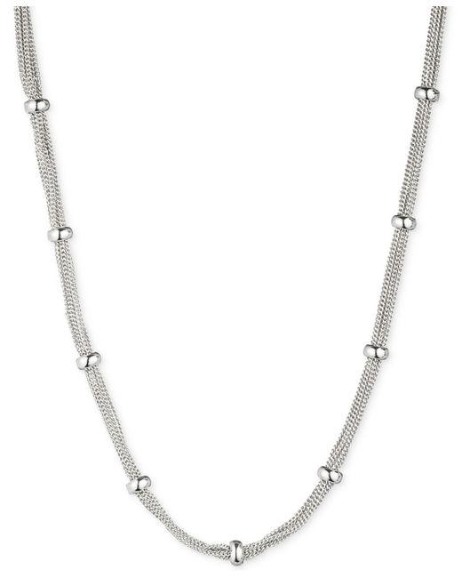 Anne Klein | Metallic Silver-tone Mesh Strand Necklace | Lyst