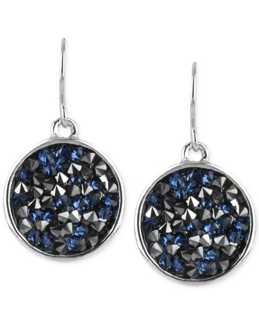 Kenneth Cole | Blue Silver-tone Faceted Bead Disc Drop Earrings | Lyst