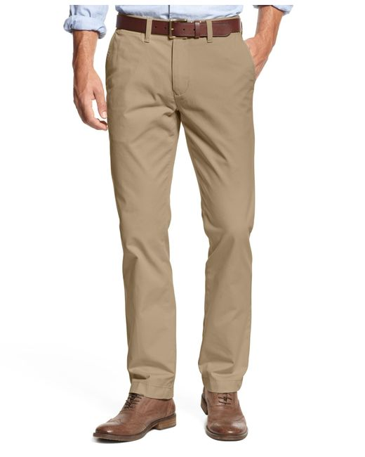 Tommy Hilfiger   Brown Men's Custom Fit Chino Pants for Men   Lyst