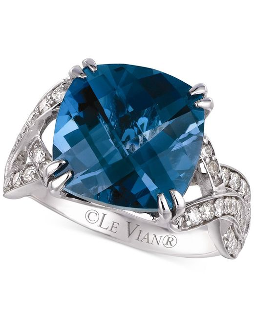 Le Vian | Blue Topaz (8 Ct. T.w.) And Diamond (1/2 Ct. T.w.) Ring In 14k White Gold | Lyst
