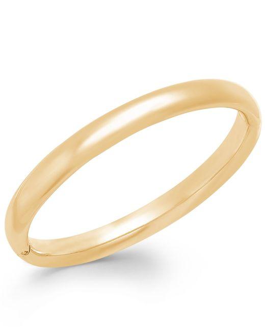 Signature Gold | Metallic Polished Bangle Bracelet In 14k Gold | Lyst