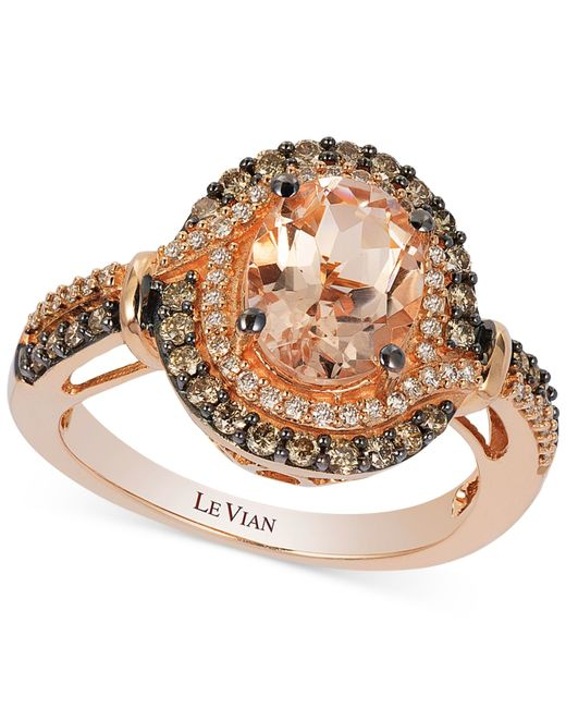 Le Vian | Pink Peach Morganite (1-1/5 Ct. T.w.) And Diamond (1/2 Ct. T.w.) Ring In 14k Rose Gold | Lyst