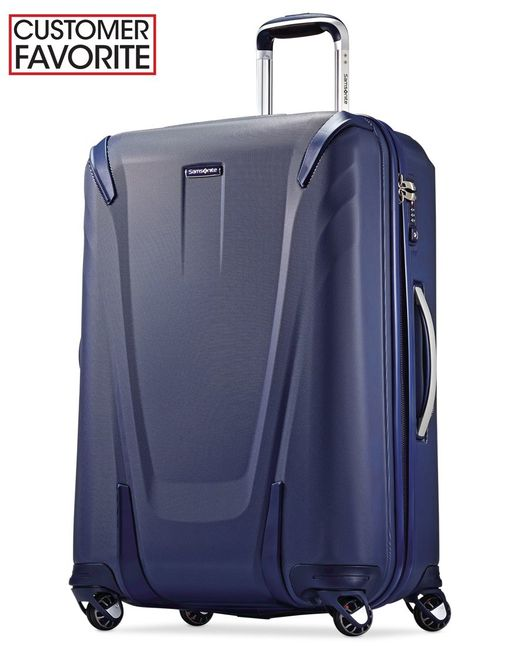 "Samsonite | Blue Closeout! 60% Off Silhouette Sphere 2 Hardside 26"" Spinner Suitcase, Available In Ruby Red, A Macy's Exclusive Color 