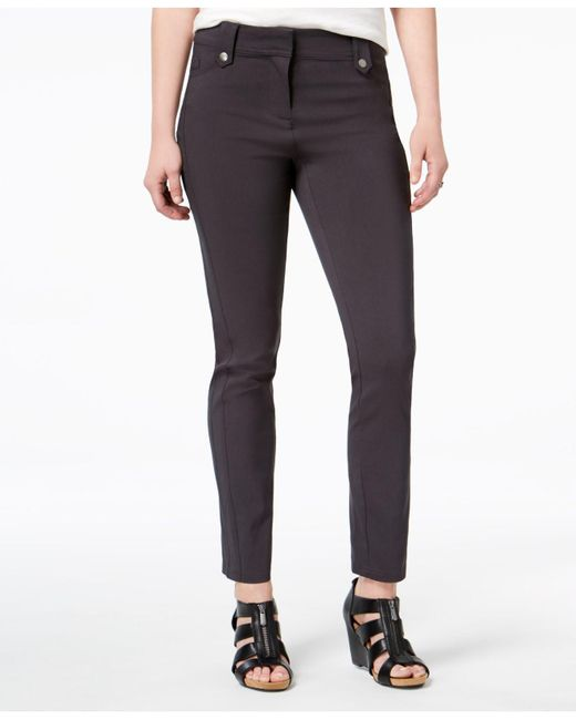 Style & Co. | Gray Seamed Skinny Pants, Created For Macy's | Lyst