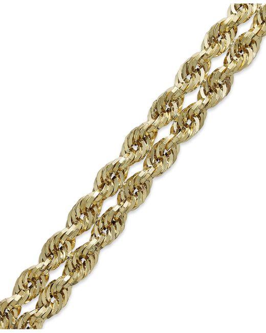 Macy's | Metallic Chain Double Rope Bracelet In 14k Gold | Lyst