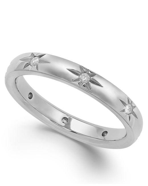 Marchesa | Diamond Star Wedding Band In 18k White Gold (1/8 Ct. T.w.) | Lyst
