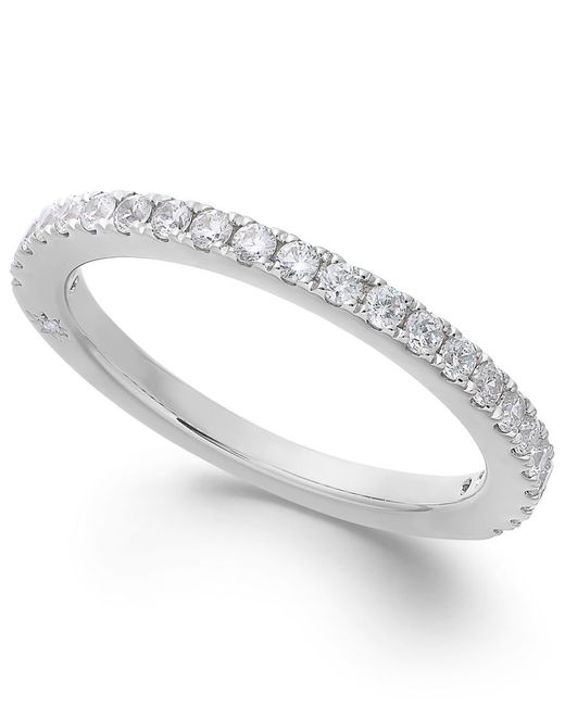 Marchesa | Diamond Band By Certified In 18k White Gold (3/8 Ct. T.w.) | Lyst
