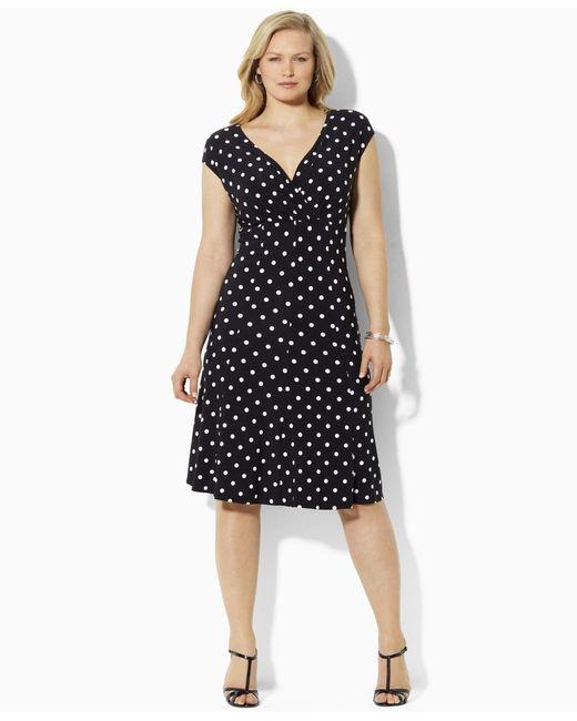 Lauren by ralph lauren Plus Size Polka-dot Cap-sleeve ...