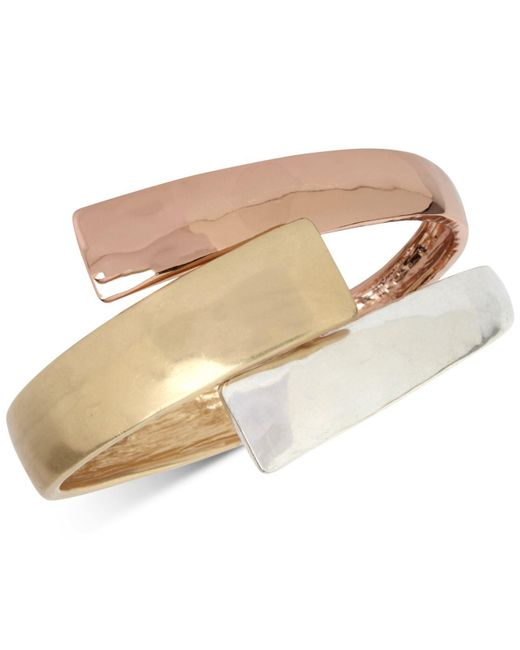 Robert Lee Morris - Multicolor Tri-tone Bypass Bangle Bracelet - Lyst