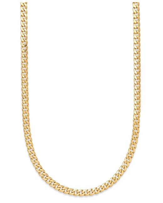 "Macy's | Yellow 22"" Cuban Link Chain Necklace 7mm In 14k Gold 
