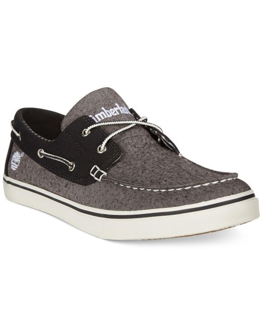 Timberland | Gray Newmarket Boat Shoes for Men | Lyst