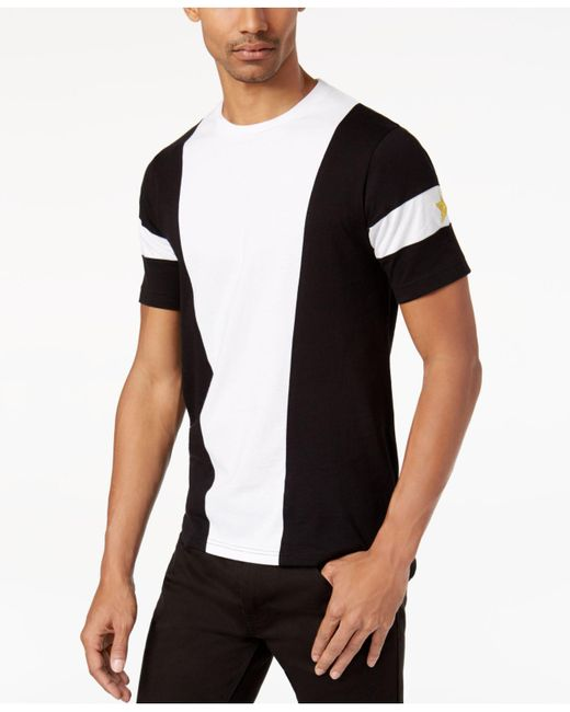 Sean John | Black Men's Colorblocked Embroidered T-shirt for Men | Lyst