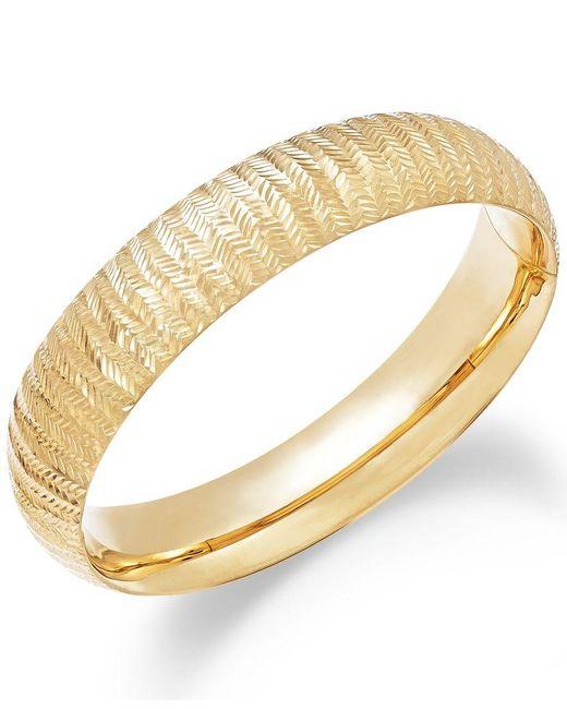 Macy's   Metallic Chevron-cut Bangle Bracelet In 14k Gold   Lyst