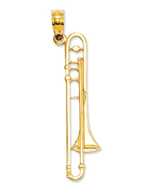 Macy's - Metallic 14k Gold Charm, Trombone Charm - Lyst