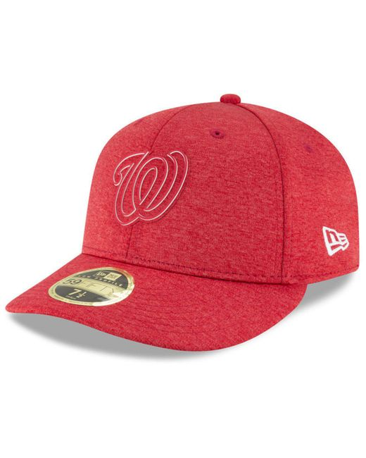 d4dad960ba89c5 greece ktz red washington nationals clubhouse low crown 59fifty fitted cap  for men lyst 84f96 8b42b