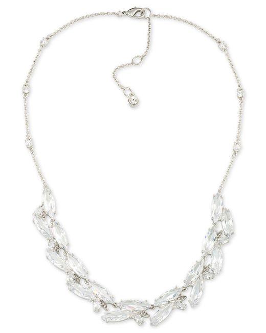 Carolee - Metallic Marquee Cubic Zirconia Cluster Collar Necklace - Lyst