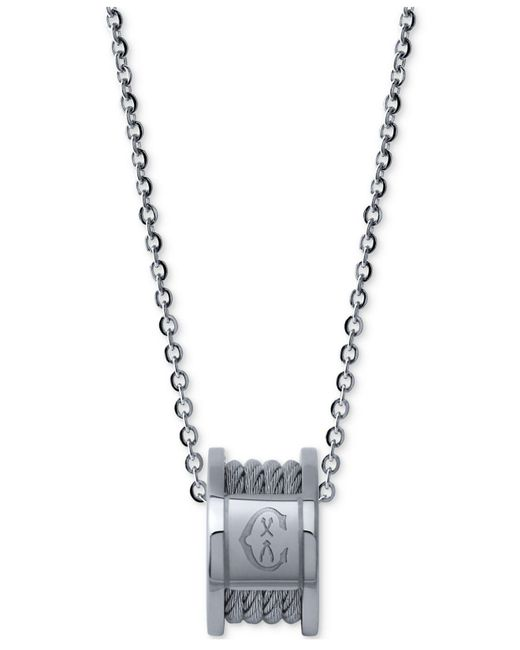 Charriol - Metallic Women's Forever Stainless Steel Cable Pendant Necklace - Lyst