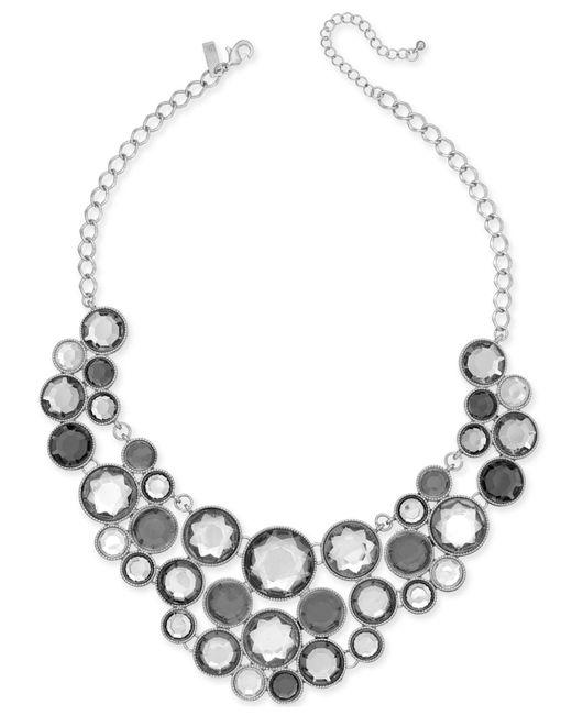 INC International Concepts - Metallic Gold-tone Black Stone Bib Necklace - Lyst