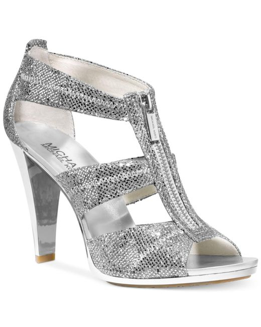 Michael Kors - Metallic Berkley T-strap Evening Sandals - Lyst