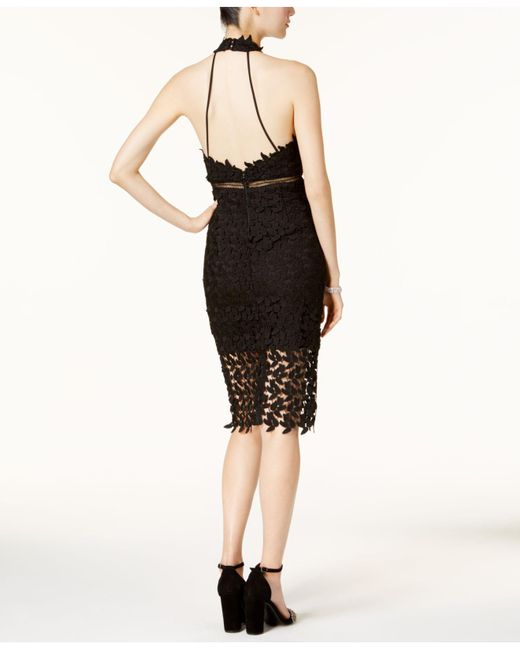 ba2cc8ac Bardot Gemma Lace Illusion Halter Dress in Black - Save 42% - Lyst