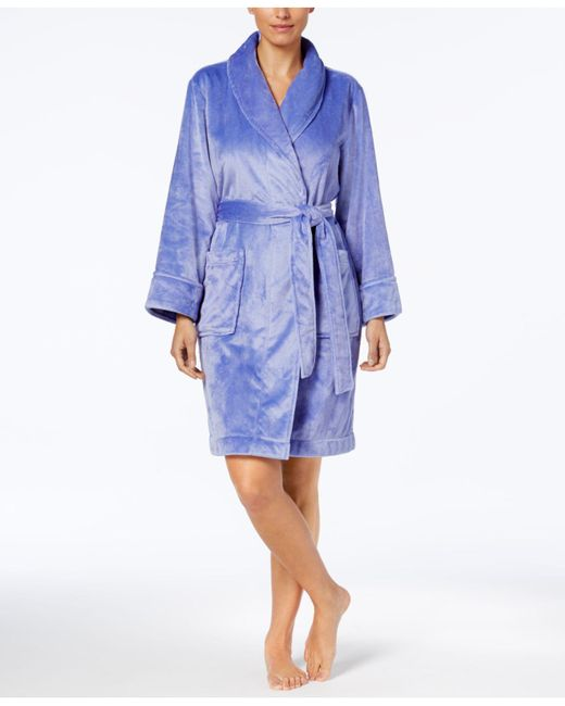 Charter Club - Blue Short Solid Robe - Lyst