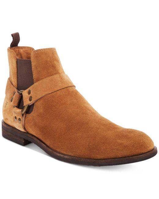 Frye - Brown Men's Scott Chelsea Harness Boots for Men - Lyst