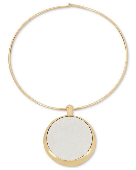 Robert Lee Morris - Metallic Two-tone Large Circle Pendant Necklace - Lyst