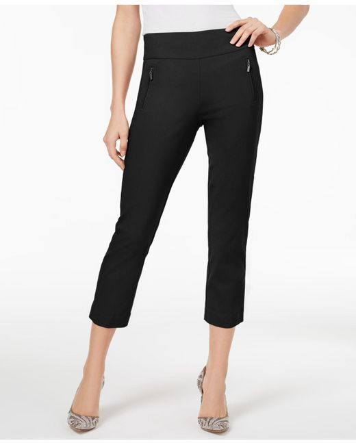 INC International Concepts - Black Curvy-fit Cropped Pants - Lyst