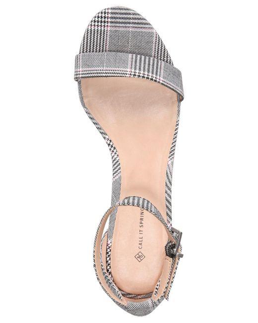 7168d5ddf7 ... Call It Spring - Multicolor Stangarone Block-heel Sandals - Lyst ...