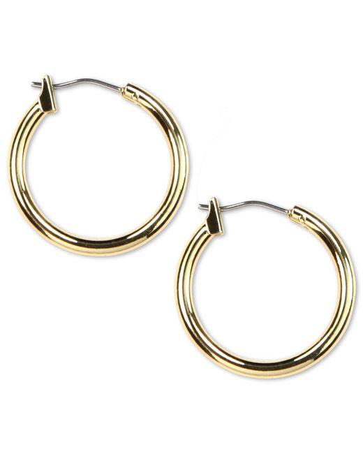 "Anne Klein - Metallic 3/4"" Gold-tone Hoop Earrings - Lyst"