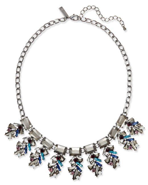 INC International Concepts | Multicolor Hematite-tone Multi-stone Statement Necklace | Lyst