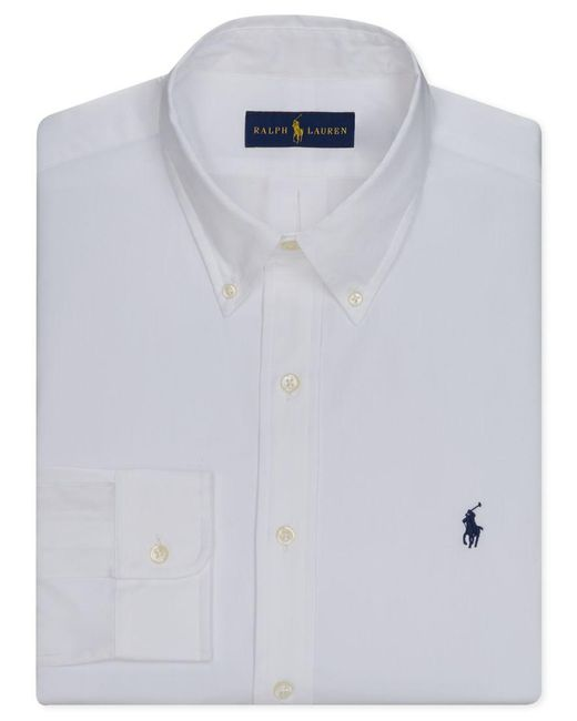Polo Ralph Lauren | White Men's Pinpoint Oxford Solid Dress Shirt for Men | Lyst