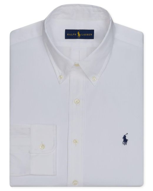 Polo Ralph Lauren | White Pinpoint Oxford Solid Dress Shirt for Men | Lyst