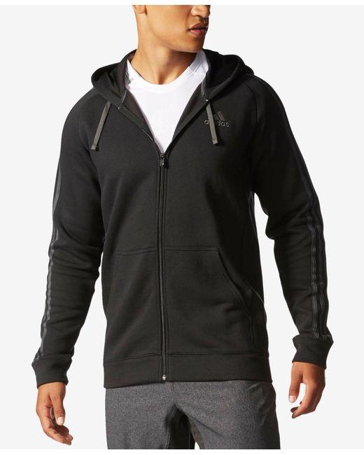 Adidas Originals | Black Cotton Fleece Hoodie for Men | Lyst