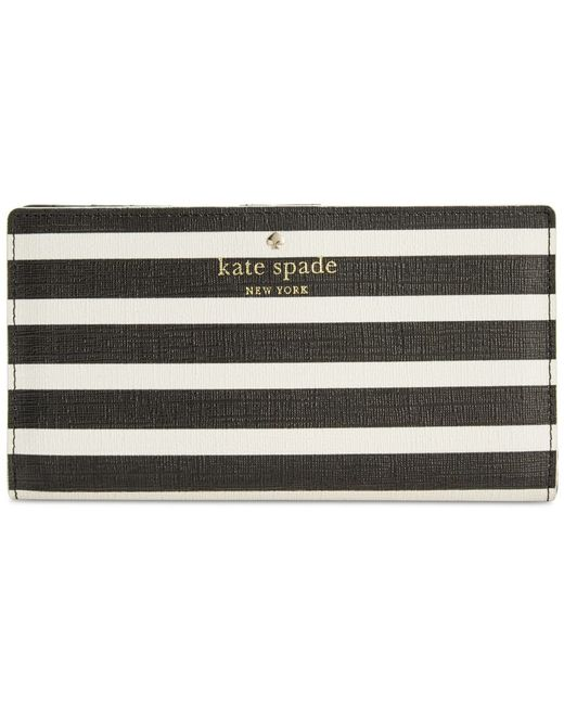 Kate Spade | Black Fairmount Square Stacy Wallet | Lyst