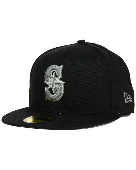 KTZ | Gray Seattle Mariners Black Graphite 59fifty Cap for Men | Lyst