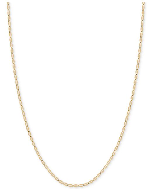"Macy's | Metallic 18"" Flattened Link Chain Necklace In 14k Gold 